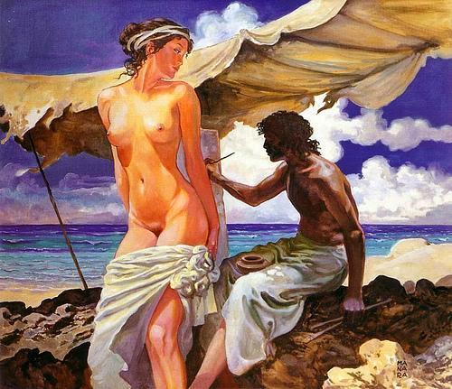 Milo Manara - Il pittore greco Apelle  ritrae Campaspe, amante di Alexander il grande